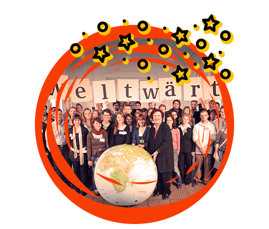 Group photo taken during the weltwärts launch celebrations.