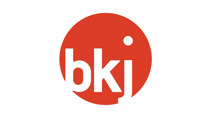 "BKJ logo consisting of the abbreviation ""BKJ "" in a circle."